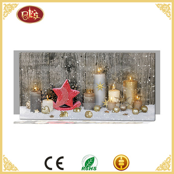 wall art frameless christian miniature painting with led light