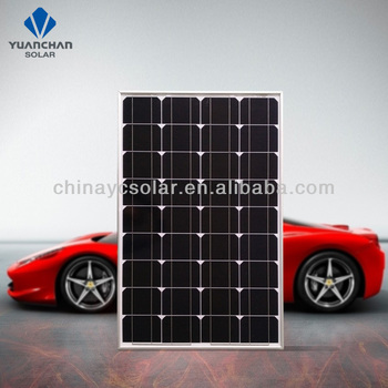 china manufacture  CE TUV certificates factory price 110 watt mono solar panel