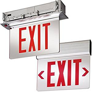 Lithonia Lighting EDG 1 R EL M6 Aluminum LED Emergency Exit Sign by Lithonia Lighting