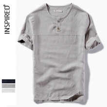 100% cotton breathable customised printed t shirts youth linen t-shirt wholesale