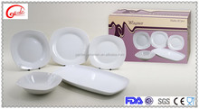 Super white high quality dinner set luxury porcelain tableware