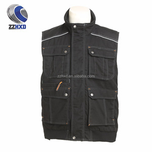 Multi-functional industrial padded vest Reflective work vest trousers men's vest