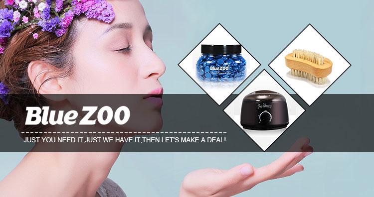 BlueZOO Europäische Formel ohne Streifen Professionelle schmerzlose Haarentfernung Schimmer Hartwachs-Bohnen-500g