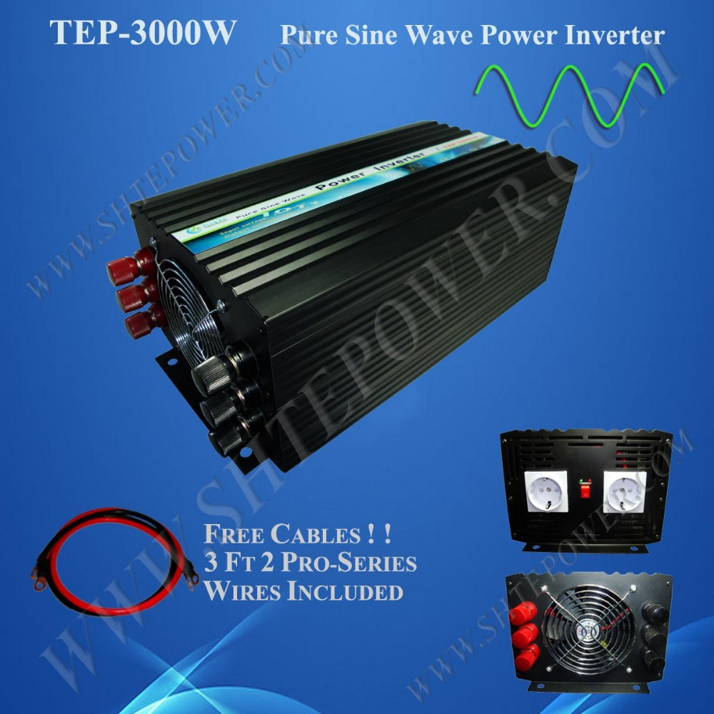 DC 12V/24V/48V to AC 110V/220V/230V Off Grid Solar/Wind Green Energy 3000W Power Inverter
