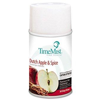 TimeMist Metered Aerosol Fragrance Dispenser Refills, Dutch Apple & Spice, 6.6 oz - 12 metered aerosol fragrance refills.