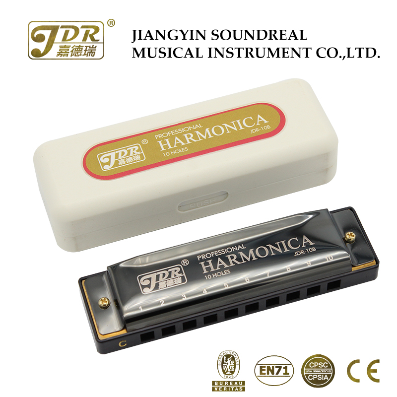 JDR blues harmonica competitive price 10 bores