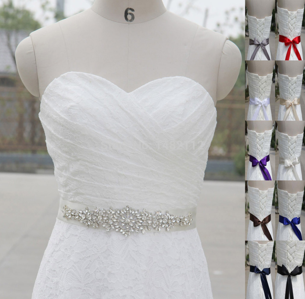 Unique Wedding Dress Sashes Belts: Sparkly Luxurious Crystal Rhinestone Czech Stones Formal