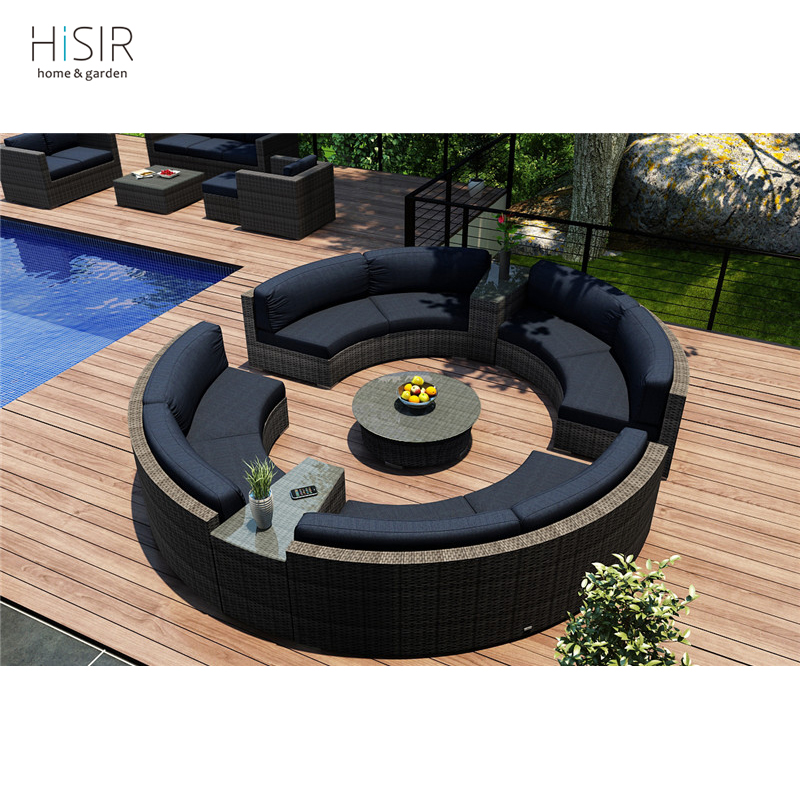 Garden Half-moon Shape Sectional Sofas Rattan Outdoor Furniture - Buy  Half-moon Shape Sectional Sofa,Half Moon Sectional Sofa,Garden Sofas Rattan  ...
