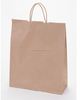 Customized white kraft paper food bag with twisted handle