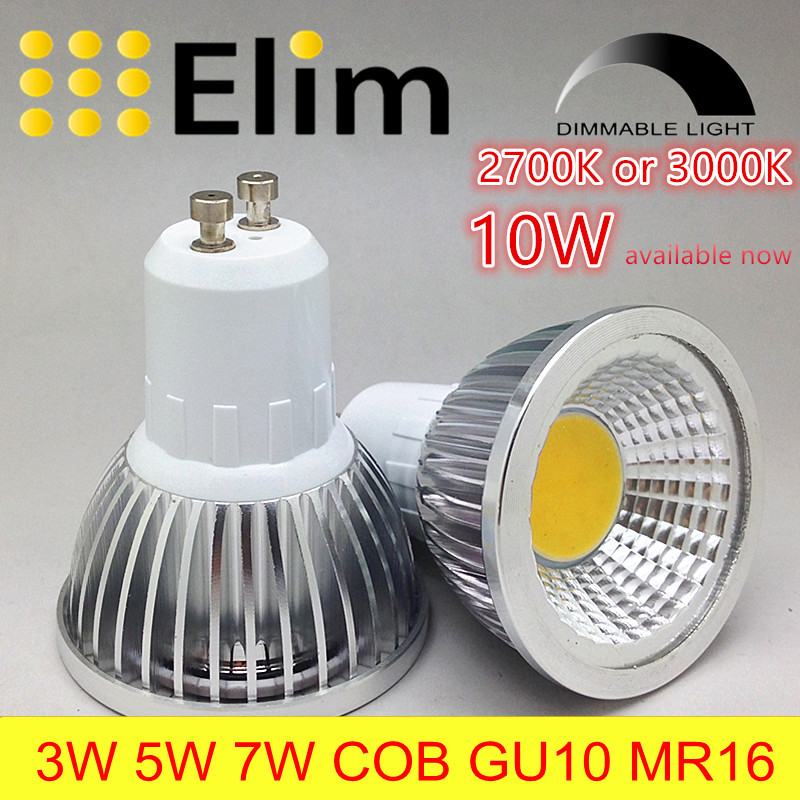 led gu10 cob mr16 spot lamp dimmable 3000k warm white and 2700k 3w 5w 7w 10w bulb light replace. Black Bedroom Furniture Sets. Home Design Ideas