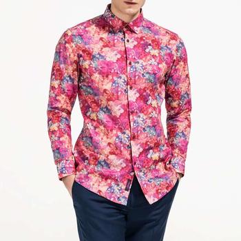 8deef2ec206 Floral Shirts For Men Long Sleeve Hawaiian Shirts For Men - Buy ...