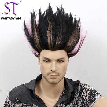 Schwarzer Mix Rosa Erwachsene Crazy Updo Spiky Big Troll Perucke Buy Kostum Perucke Hochsteckfrisur Frisuren Perucke Grosse Troll Perucke