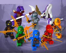 8pcs lot movie Phantom Ninja Kid Baby Toy Mini Figure Building Blocks Sets Model Toys Minifigures