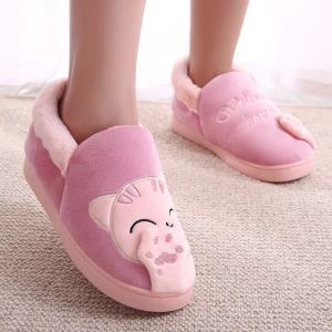 Cute Cat shape coral Plush winter house shoes Slippers / animal shape design warm indoor plush shoes
