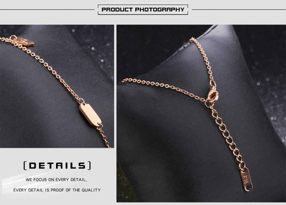 Fashion Jewelry Girl Rose Gold Link Chain Adjustable Wish Bracelet Wholesale
