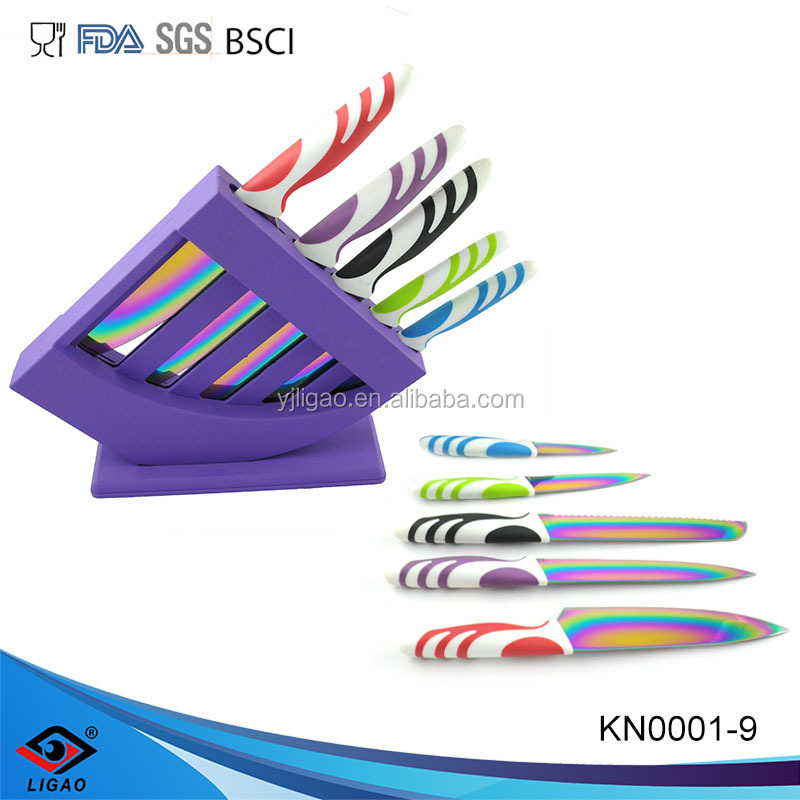 oem knives inox knife with Acrylic knife block
