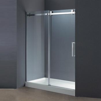 304 Stainless Steel 10mm Frameless Sliding Glass Shower Bath Screen