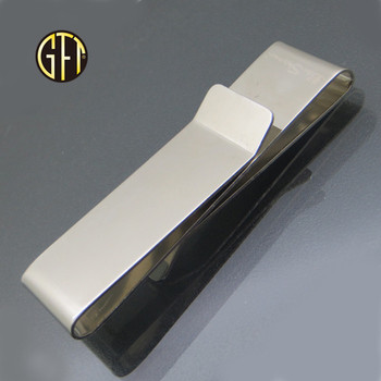 New product custom silver mens wallet metal blank money clip
