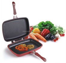 Alu. alloy die casting detacheable double frying pan