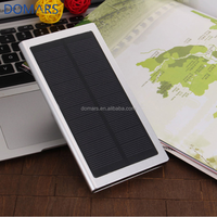 2017 Fast Charging Solar Power Bank 8000mAh Ultra-thin Metal Cases Mobile Phone Solar Charger