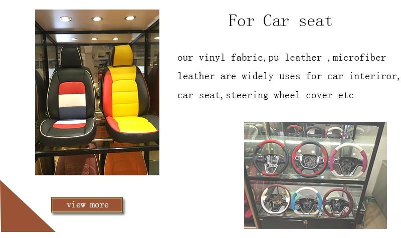 China fábrica perfurada capa de assento de carro almofada de couro sintético em pvc
