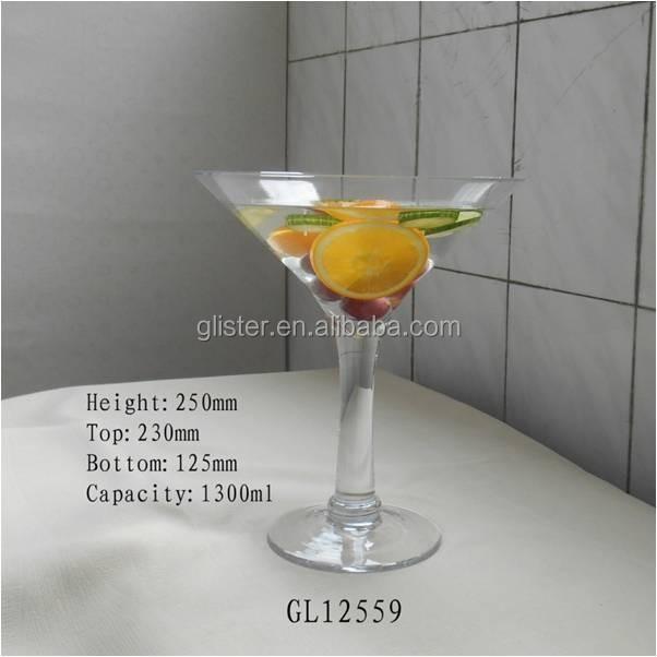 25 cm giant grand verre de vin martini centerpiece vase vases en verre cristal id de produit. Black Bedroom Furniture Sets. Home Design Ideas