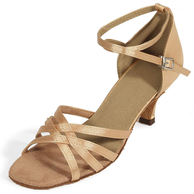 140e02c8713 Get Quotations · Cygnus Women Dance Shoes Latin Salsa Tango Practice  Ballroom Dance Shoes with 2.5