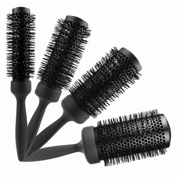 Hot sale black nylon bristle Extended ceramic paint aluminum barrel round hair brush