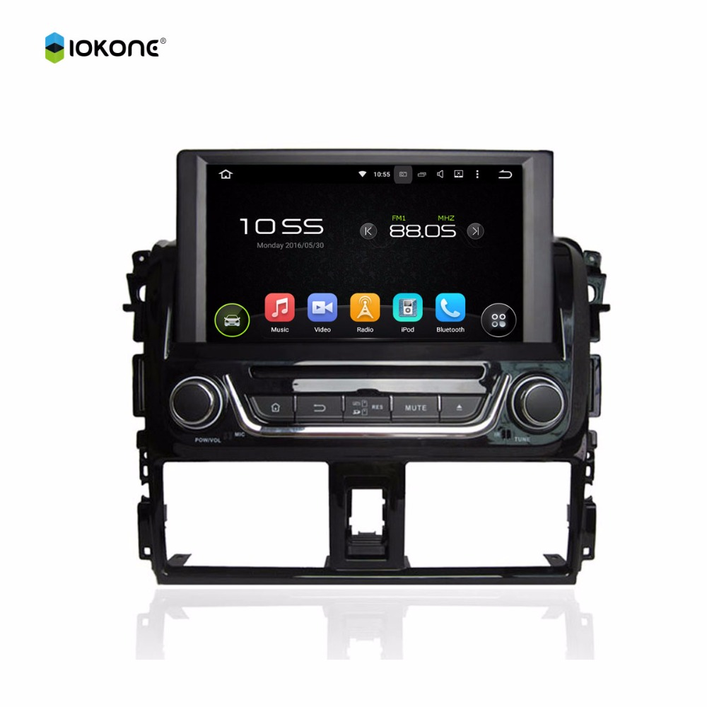 2016 Android car dvd player for TOYOTA Yaris gps navigation digital touch screen car stereo radio