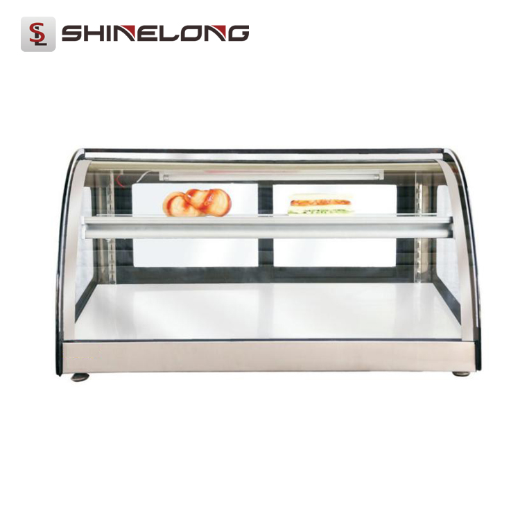 0.9m Counter Top Glass Bakery Showcase /Warming Pastry Display Case (30-80 degrees centigrade)