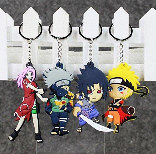 Buy 4Pcs/Set Naruto Figure Toys Keychain Character Sasuke