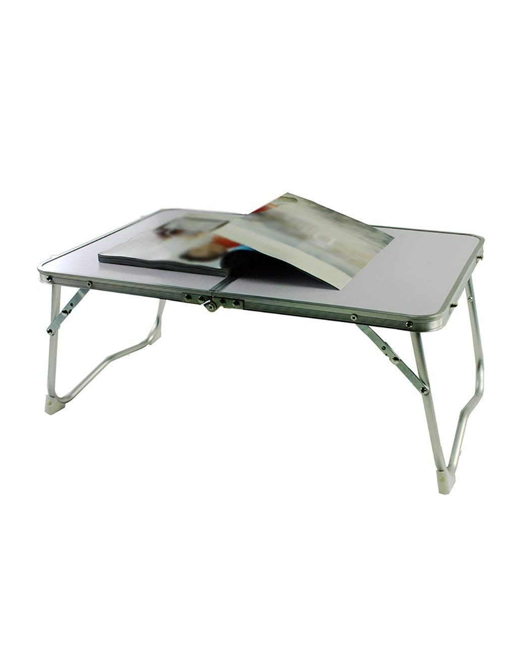 HAIPENG Bed Computer Desk Dorm Room Laptop Tables Folding Table Study Tables Blue And White (Color : 2#, Size : LWH:614128.5cm)