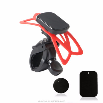 360 Degree Bike Handlebar Holder Bike Handlebar Phone Mount with ABS Belt High Quality Bike Phone Holder