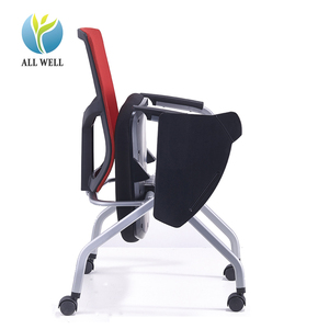 Bulk wholesale stackable training folding meeting office chair with writing tablet