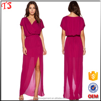 Factory wholesale oem product summer ladies casual dresses pictures chiffon maxi dresses