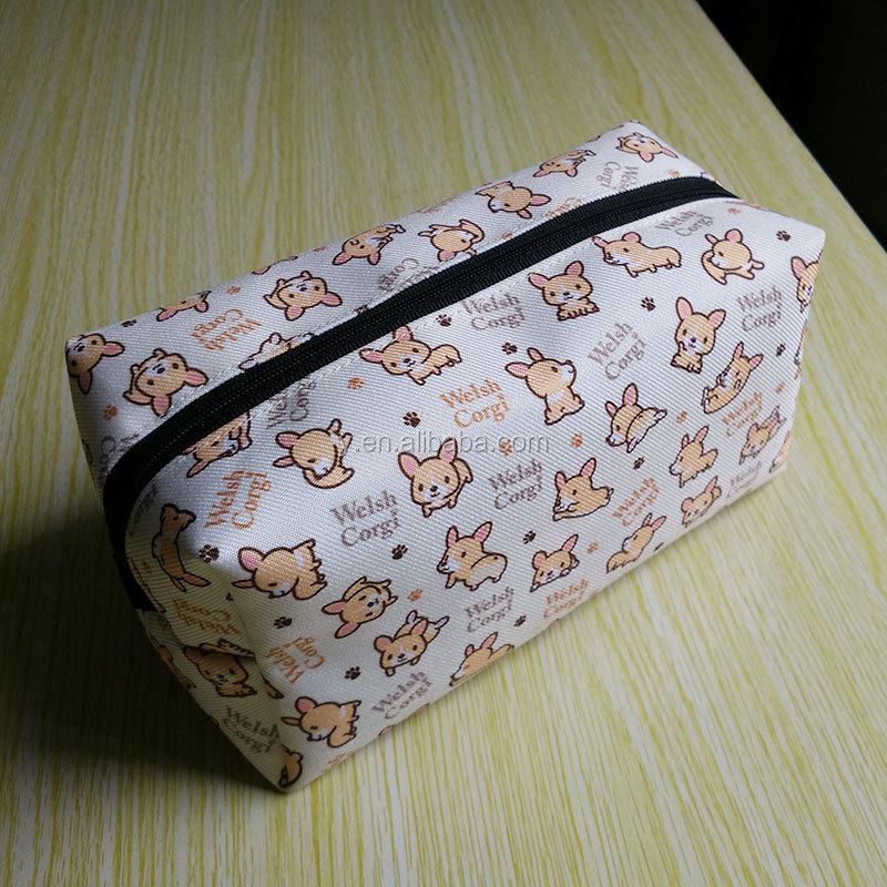 office & school custom print pencil bag splash proof zipper bag