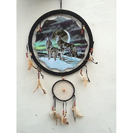 Buy Northern Lights Wolves Dream Catcher Wolf Animal Feather Craft New Animal Dream Catchers