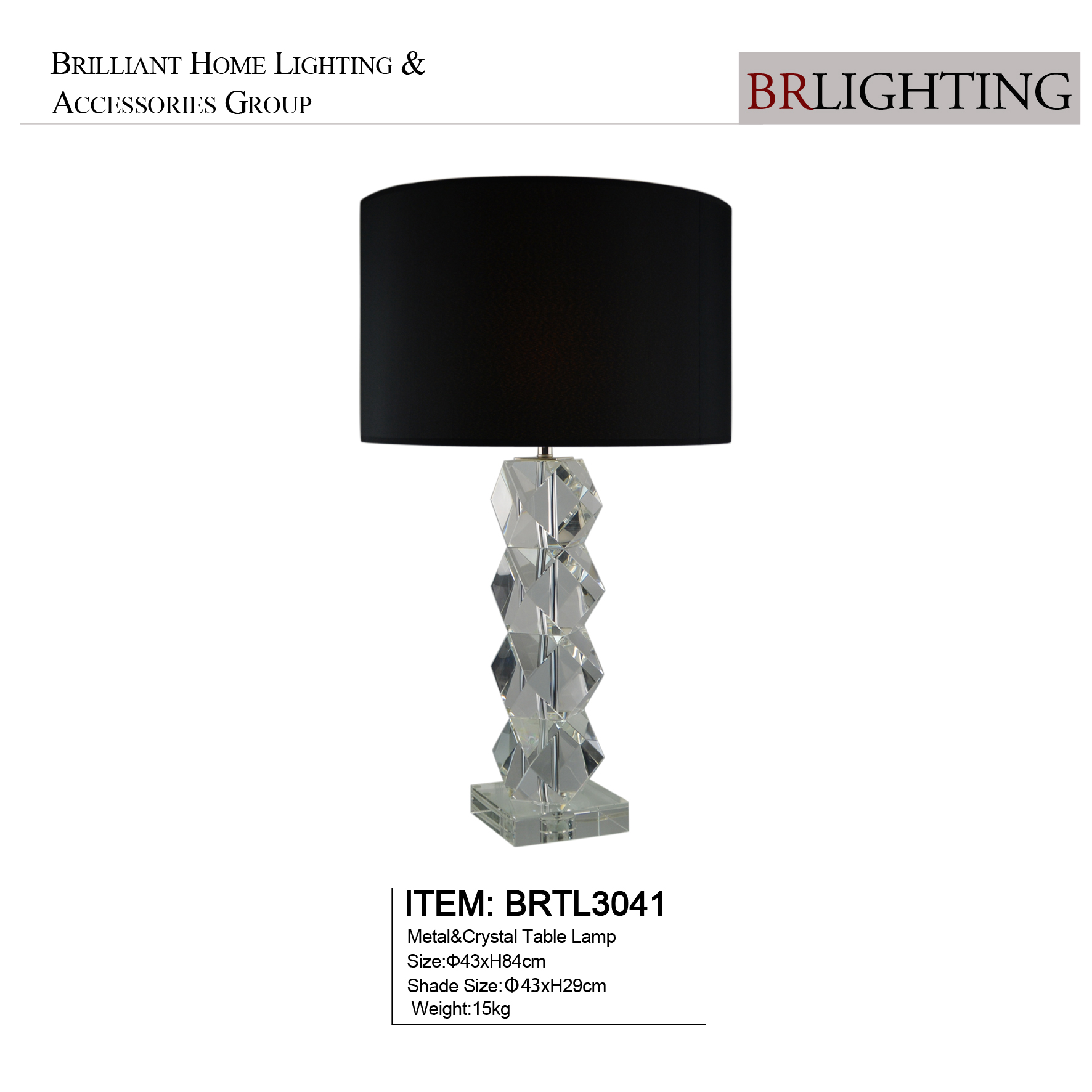 Clear Cylindrical Table Lamps