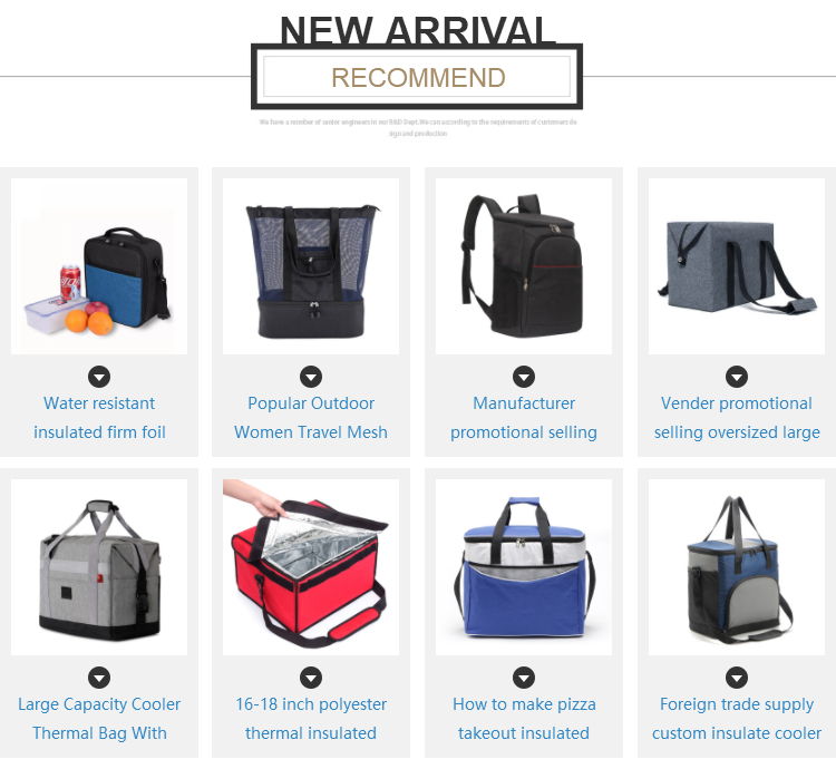 Amazon top selling business style black oxford hot cold insulated thermal ice cooler bag with shoulder belt