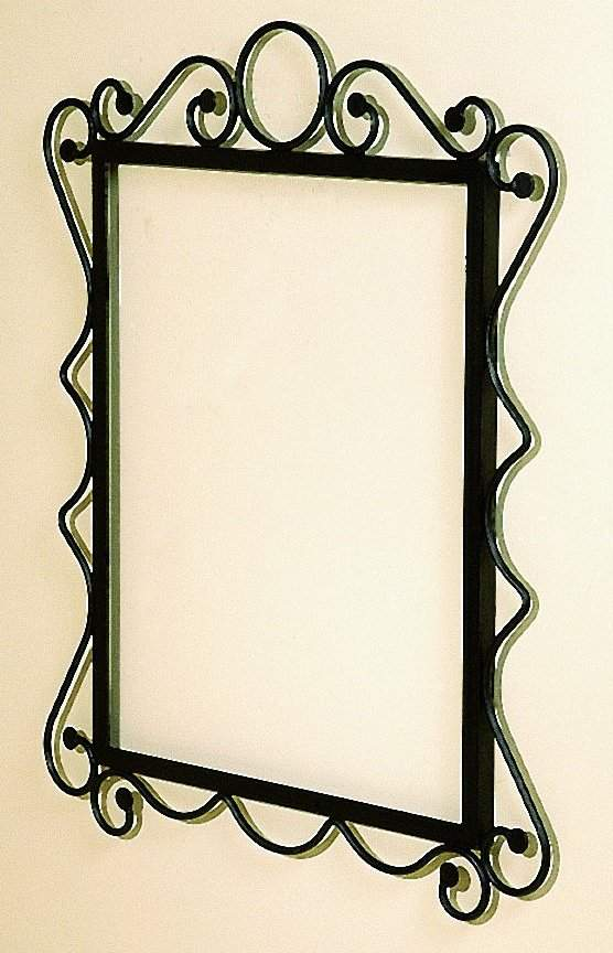 Wrought Iron Mirror Frame W Gl Product On Alibaba