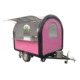 Ice Cream Vending Food Cart Van/ Customized Hand Push Fryer Crepe Food Cart/ Mobile Street Fast Food Van