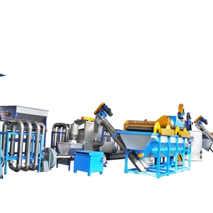 waste plastic pet bottle scrap flakes industrial hot washing recycling line machine prices