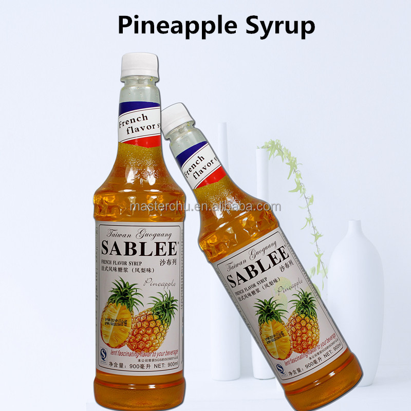 SABLEE pineapple flavor syrup for soft drink with HALAL 900ml