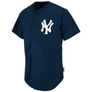 8073f445f Get Quotations · New York Yankees Full-Button CUSTOM or BLANK BACK Major  League Baseball Cool-Base