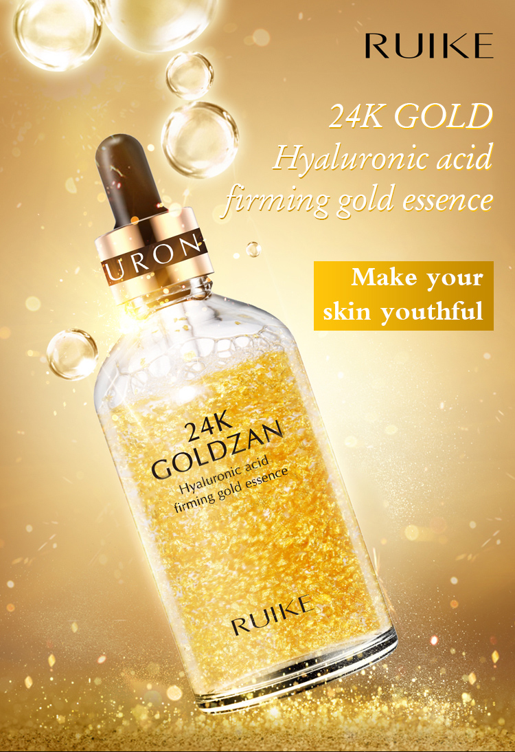 Wholesale OEM firming lifting  amazing 24K gold hyaluronic acid whitening serum gold
