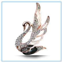 Manufacturer provides straightly han edition of high-grade silk scarves buckle accessories Set auger cygnet crystal brooch N194