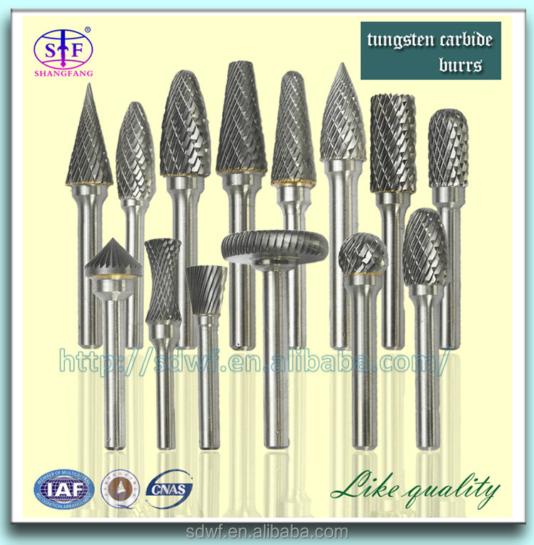 wholesale tungsten carbide burrs/carbide rotary burrs