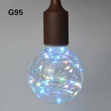 3D светодиодный лампочка эдисона E27 винтажное украшение 110В 220В с регулируемой яркостью светодиодный светильник накаливания медная проволок...(Китай)