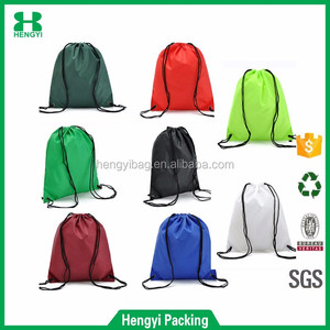 Popular colorful waterproof polyester shoe bag/lightweight nylon drawstring shopping bag/210D storage dust bag