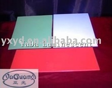 luminescent plastic board/glow in dark sheet/photoluminescent sheet